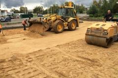 отсыпка дорог из песка